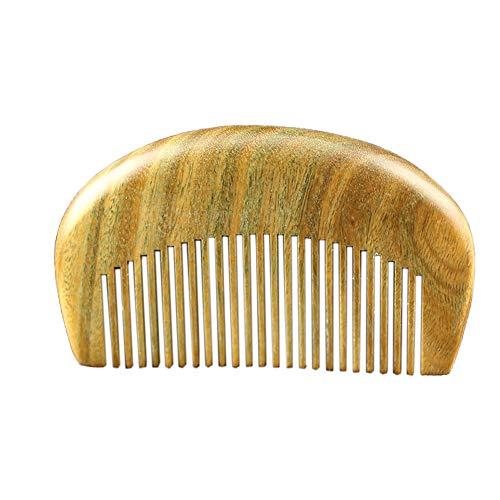 Peigne Combs De Poche Portable Naturel Vert Peigne Bois De Santal Peigne De Massage À Domicile Anti-Statique Drague Méridien Soins des Cheveux Peigne Coiffure