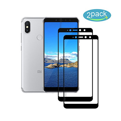 [2 Pack] For Xiaomi Redmi S2/Redmi Y2 Screen Protector - [9H Hardness] [Crystal Clear] [Bubble Free] Tempered Glass Screen Protector for Xiaomi Redmi S2/Redmi Y2 (Black)