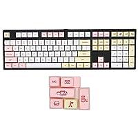 メカニカルキーボード 61/104キーキャップXDA PBT昇華カラーパーソナリティセット キーキャップ (Color : 104 key)