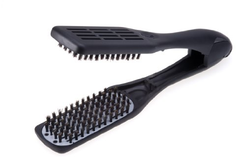Denman Professional Hair Straightener Brush D79 - Ceramic Flat Iron Hair Comb with Boar...