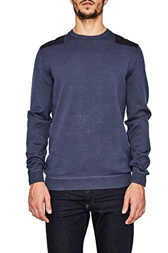 Esprit 087ee2i012 suéter, Azul (Ink 415), Small para Hombre