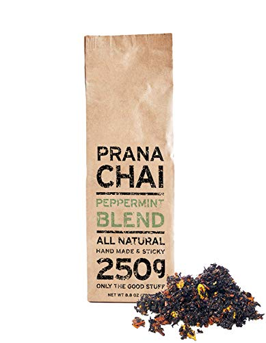 Prana Chai PEPPERMINT Blend 250 g - All-Natural, no sugars, no syrups, no concentrates, no preservatives. Only The Good Stuff