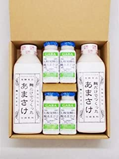 八海山あまさけ ノンアルコール 八海山 麹だけでつくったあまさけ825g X 2本 乳酸発酵の麹あまさけGABA(ギャバ)118g X 4本 ギフトBOX入り 要冷蔵