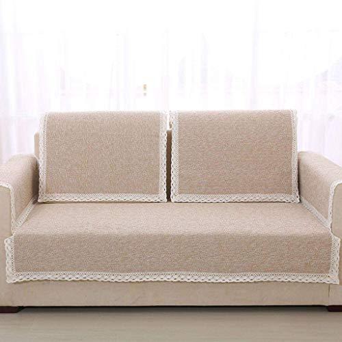 Jonist Funda de Lino para sofá, Jacquard Simple y Elegante para Sala de Estar, Funda Antideslizante para Muebles, Shield-P-90X160cm