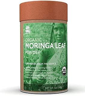 OMG! Superfoods Organic Moringa Powder - 100% Pure, USDA Certified Organic Moringa Leaf Powder – 7oz