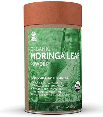 OMG! Superfoods Organic Moringa Powder - 100% Pure, USDA Certified Organic Moringa Leaf Powder-7oz