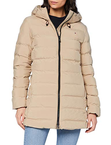 Tommy Hilfiger Damen Th Ess Seamless Sorona Coat Jacke, Beige, L