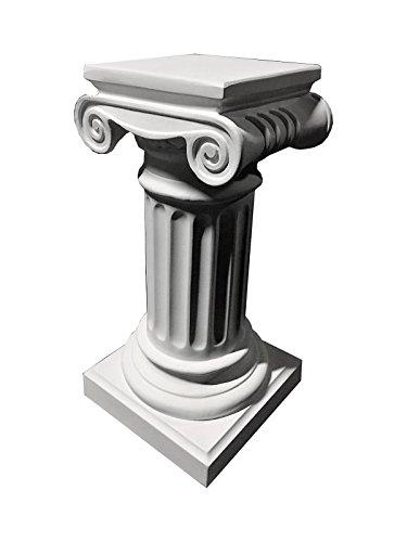Antikes Wohndesign Blumensäule Blumenständer Marmor Säule Standsäule Weiß-Matt Höhe: 70cm