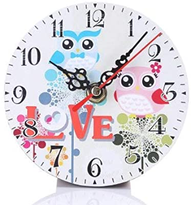 Kamas Aimecor Cute Owl Series 11.5cm Wall Clocks Round Wall Watches relojes decoracion pared 1PC