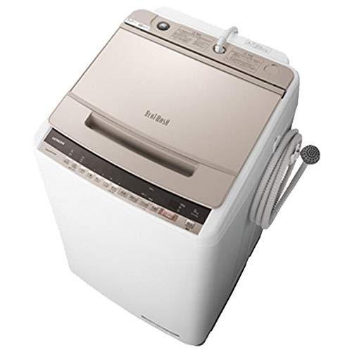 日立 8.0kg 全自動洗濯機 シャンパンHITACHI ビートウォッシュ BW-V80E-N