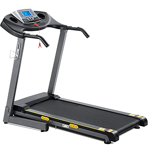 Treadmill for Home Folding Treadmill Electric Treadmill Workout Running Machine with 12-Level Automatic Incline Adjustment & Pre-Set Training Programs Large LCD Display Cup Holder for Home Use
