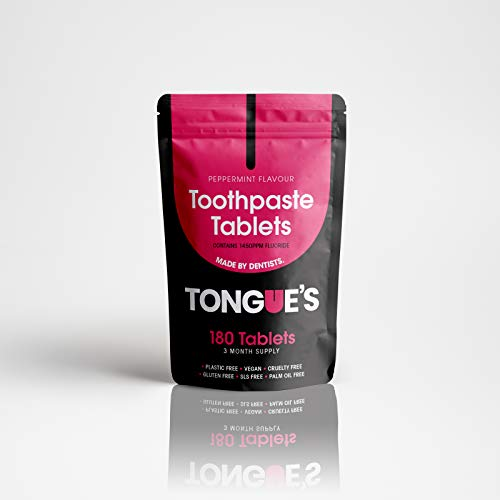 Tongue's Toothpaste Tablets with Fluoride (3 Month Supply) - Made by Dentists