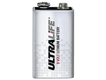 Durable Ultralife Long-Life 9V Lithium Battery - Foil Pack