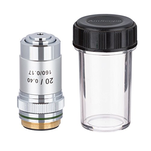 AmScope A20X 20X Achromatic Microscope Objective