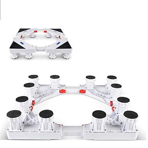 Bewegliche Basismultifunktions Adjustable 12 Starke Füße Mobile Case Roller Dolly Fordryer und Kühlschrank, Waschmaschine Panasonic