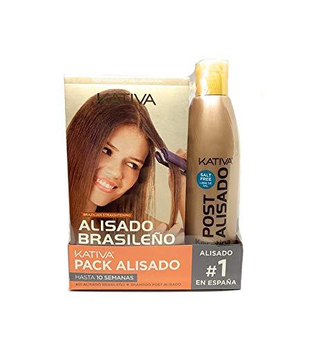 Kativa Alisado Brasileño - Pack con Kit de Alisado y Champú