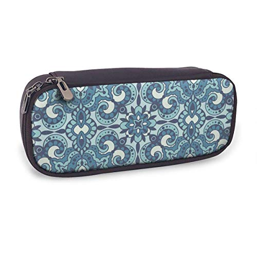 Pencil Case Pen Bag,Pattern Arabesques in Style,Large Capacity Pen Case Pencil Bag Stationery Pouch Pencil Holder Pouch with Big Compartments