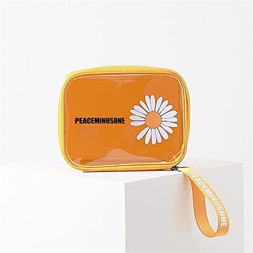 HJF Small Daisy Cosmetic Bag Portátil Bolsa De Lavado A Mano De Gran Capacidad Cosmética De Gran Capacidad C