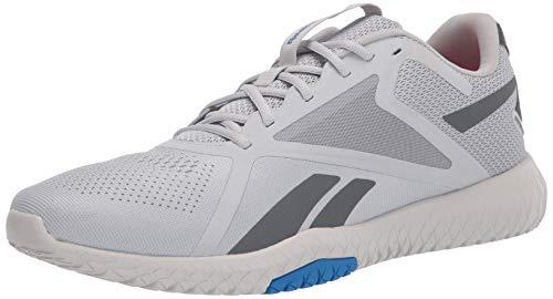 Reebok Men's Flexagon Force 2 Training Shoes Cross Trainer, Pure Grey/True Grey/Dynamic Blue, 9.5