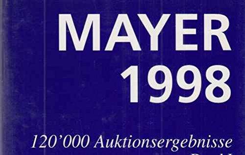 (2 BÄNDE) Mayer 1998. 120.000 Auktionsergebnisse. Graphik Zeichnungen Aquarelle Gemälde Skulpturen. Internationales Aukionsjahrbuch. Band I : A-J / Band II: K-Z.