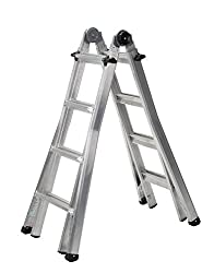 Cosco 18 feet Aluminum Telescoping Multi-Position Ladder