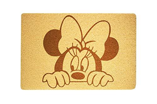 StarlingShop Felpudo de Minnie Mouse con diseño de Minnie Mouse para puerta de bienvenida, ideal para decoración del hogar, regalo de cumpleaños