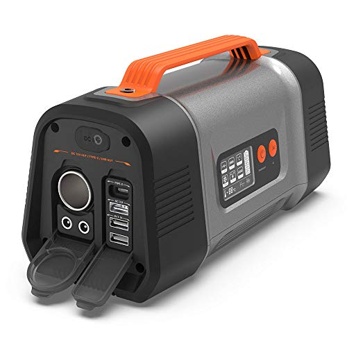 Portable Power Station, AIPER Flash 150 Solar Generator 162Wh 45000mah Backup Power Supply with 110V/150W AC Outlet,Type C and QC3.0 USB Fast Charge,Car Port for Outdoor Camping Fishing Home Emergency