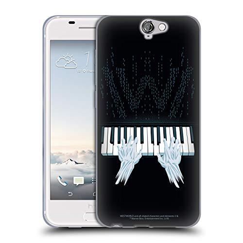 Head Case Designs Offizielle Westworld Piano Grafiken Soft Gel Handyhülle Hülle Huelle kompatibel mit HTC One A9