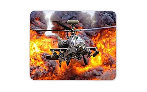 Alfombrilla De Ratón Alfombrilla Antideslizante Apache Helicopter-Air Force Army Computer Gift Alfombrilla De Goma Antideslizante Mouse Pad