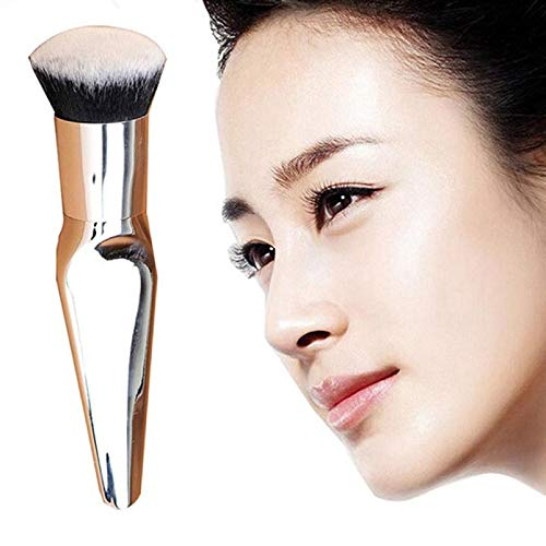 MEIYY Pinceau de maquillage Make Up 1Pcs Pro Cosmetic Makeup Face Powder Blusher Toothbrush Curve Foundation Blush Brushes Beauty Glitter Make