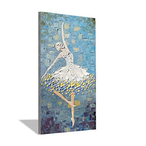 100% Handgemaltes Balletttänzer Modernes Abstraktes Paletten-Messer-Ölgemälde Wand-Deko For Wohnzimmer Hauptdekoration Leinwand-Malerei WWJYB0288 (Size (Inch) : 40x80inck(100x200cm))