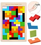 EACHHAHA Wooden Tetris Puzzles Box Toys,Brain Teasers Wooden Puzzle Block,Educational Puzzles Toys,Tangram Puzzles For Kids 3 4 5 6 Years Old