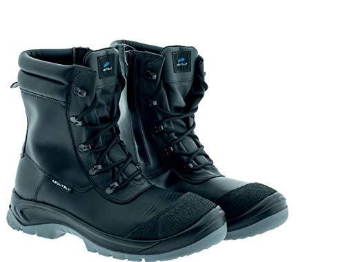 Aboutblu 3016706LA S3 SRC HRO, Alpine Mid, Sicherheitsschuh mit hitzebeständiger Sohle, Herren, schwarz, Leder Größe 42
