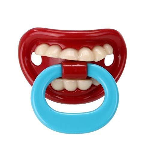 Kreativer Faschings Schnuller für Baby und Erwachsene - mit Zähnen und Mund