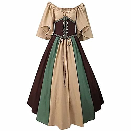 Vestido de Traje Medieval Femenino Disfraz de Cosplay renacentista Retrovelons Falda de Cintura Vestido gtico Retro Disfraz de Halloween Disfraz de Cosplay Adecuado para Damas
