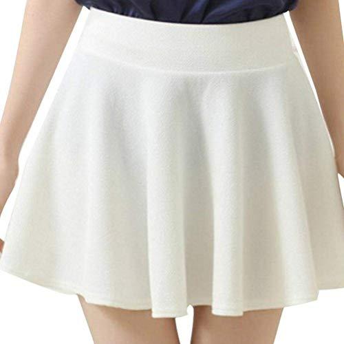 Fuxitoggo Falda Minifalda Corta Acampanada con faldón y Cintura ...