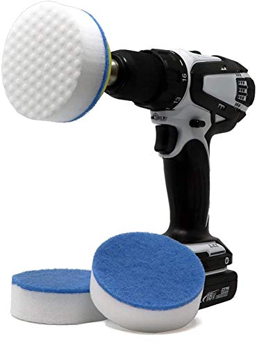 RotoEraser | Drill Powered Magic Cleaning Eraser Sponges | High Density Melamine Scrubber Pads with Drill Attachment for The Bathroom, Kitchen, Floors, Baseboards, Grout, Magic Marker, Walls & More