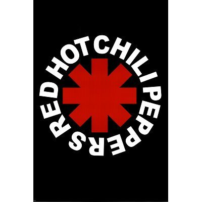 (24 x 36) Red Hot chili Peppers (logo) Music poster Print by poster Revolution by poster Revolution