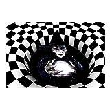 zyl Halloween 3D Illusion Zerbino Vortex Illusion Tappetino Tappetino Quadrato Tappeto 3D ...