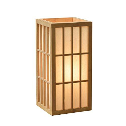WEI-LUONG Iluminación Decorativa, Reading lámpara- de Noche y lámparas de Mesa Estilo japonés de la lámpara y la Sala de la lámpara de Madera Dormitorio Mesita de luz de la lámpara Salón de té Tatami