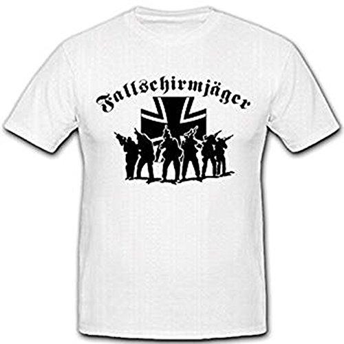 Fallschirmjäger Elite Bundeswehr Deutschland Bundeswehrkreuz Militär Einheit Kommandant - T Shirt #2625, Größe:Herren M, Farbe:Weiß