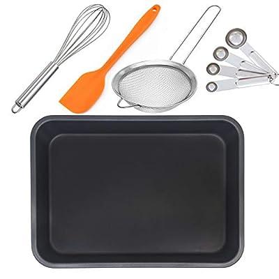 Non-Stick Quarter Sheet Pan, Carbon Steel Baking Cookie Sheet Jelly Roll Pan 13x9.25-Inch