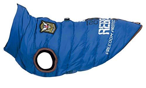 Trixie Hundemantel, Kleidung für Haustiere – Jacke mit Hundegeschirr – Größe S 40 cm blau