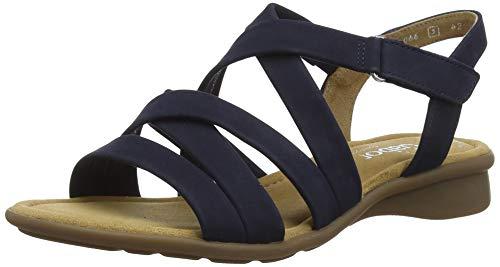 Gabor Shoes Damen Comfort Basic Riemchensandalen, Blau (Blue 36), 38 EU