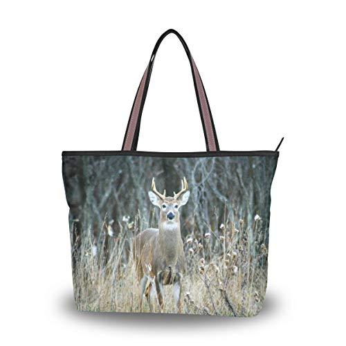 Bolso de mano con estampado de jirafa africana de BIGJOKE para mujer con asa superior, color Multicolor, talla Large