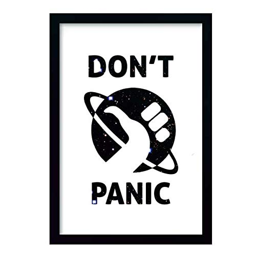 Quadro Don't Panic Galaxy c/moldura e vidro
