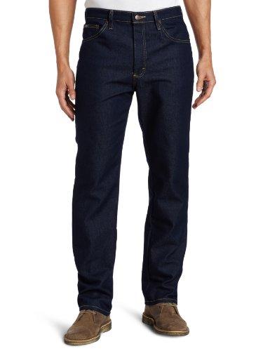 Lee Men's Regular Fit Straight Leg Jean, Indigo Stretch, 38W x 29L