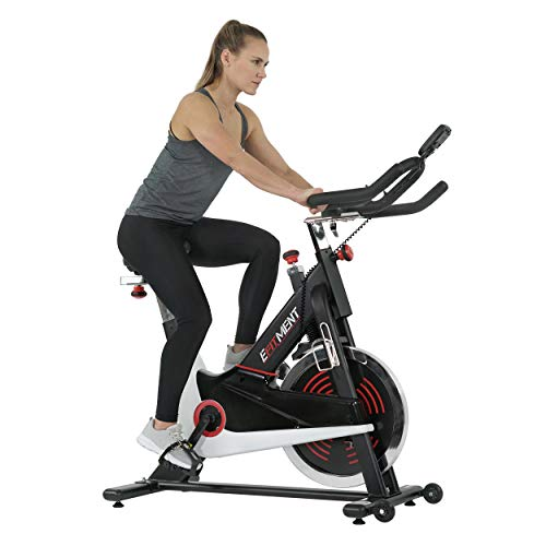 EFITMENT Indoor Cycle Bike, Magnetic Cycling Trainer Exercise Bike w/ 44 lb Flywheel, Belt Drive and LCD Monitor with Pulse Monitor- IC033