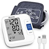 Alcedo Blood Pressure Monitor Upper Arm, Automatic Digital BP Machine with Wide-Range Cuff for Home Use, Large Screen, 2x120 Memory, Talking Function, Case and Batteries Included