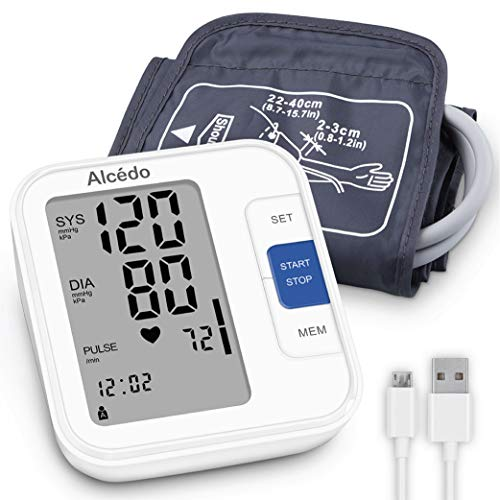 Alcedo Blood Pressure Monitor Upper Arm, Automatic Digital BP Machine with...